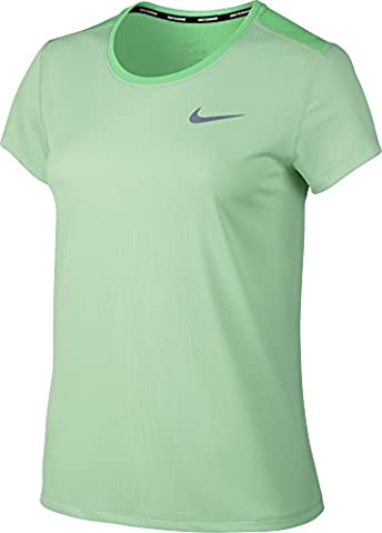 Nike Damen Breathe Rapid T-Shirt, Fresh Mint/Electro Green/Reflective Silver, XS