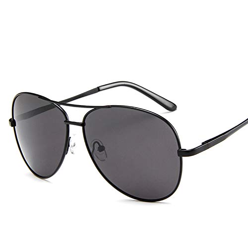 Lanbinxiang@ UV 400 Männer Aviator Sonnenbrillen Polarized Women klar (Color : Black Frame)