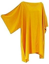 Camiseta/blusa ancha caftán para mujer, talla única