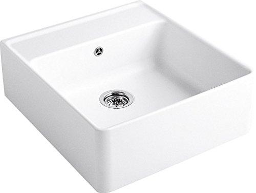 Villeroy & Boch Spülstein Einzelbecken Edelweiss Keramik-Spüle Weiß Modulspüle