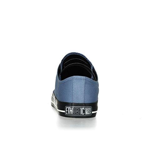 Ethletic Black Cap vegan LoCut Collection 17 - Farbe pale denim / jet black aus Bio-Baumwolle Größe 40 - 4