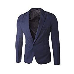 Slim Fit Blazer Button De...