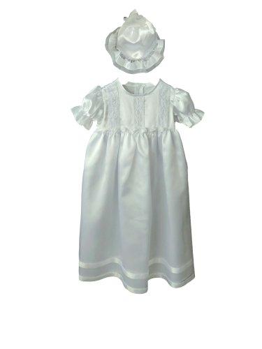Baby Mädchen voller Länge Taufkleid mit Motorhaube 6/12Monate (Voll Motorhaube)