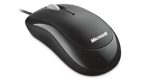 Microsoft Basic Optical Mouse - Ratón óptico (800 DPI, USB), negro