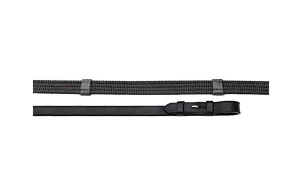 Snowhill Heritage English Leather Continental Reins in Black or Havana Black One Size