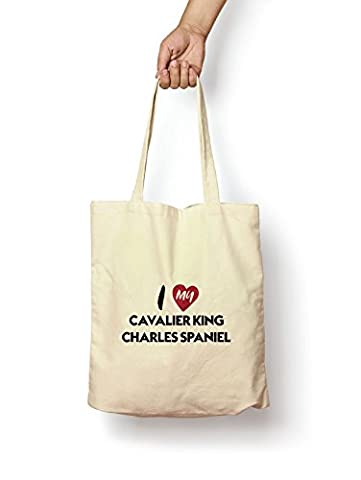 I Love My Cavalier King Charles Spaniel - Canvas Tote