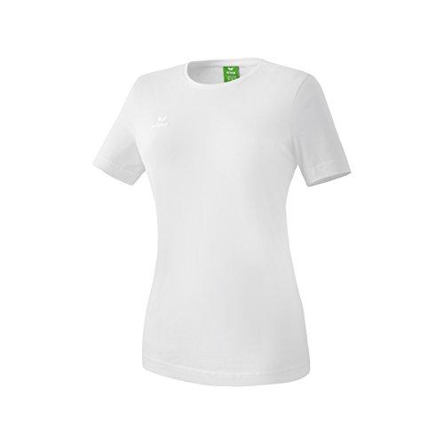 ERIMA Damen Teamsport Shortsleeve Logo Tee Shirt T-Shirt 2er Pack Weiß-Weiß - 34