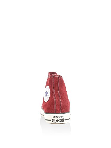 Converse - All Star Hi Suede, Unisex Rojo Sneaker Adulto