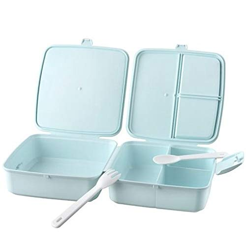 amara-global Lunchbox 4 Fächer Vesperdose Brotdose Kinder Brotzeitdose Vesperbox B-h14 (Mint) -