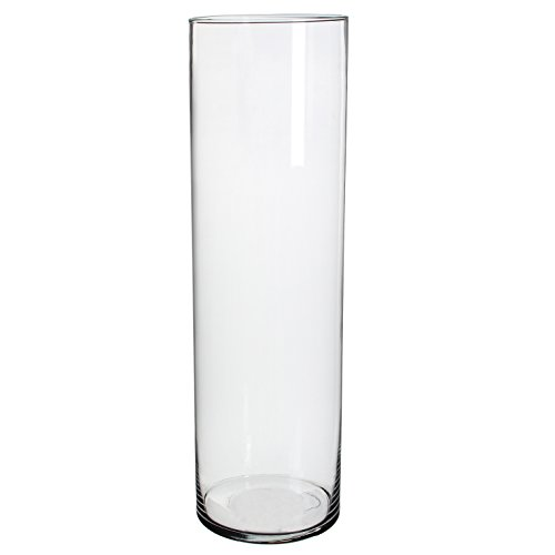 Mica decorations 1022993 Cilla Vase, Glas, Transparent, 15 x 15 x 50 cm