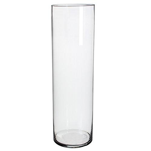 MICA Decorations 1022994Priscilla - Jarrón, vidrio, transparente, Höhe 50 cm D 15...