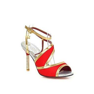 LvYuan Da donnaFormale-Aperta-A stiletto-Finta pelle-Nero / Blu / Viola / Rosso / Beige Black