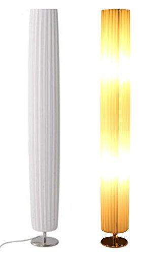 Trango Design Plissee Stehleuchte Stehlampe Wohnzimmer Lampe Leuchte Standleuchte Nizza in Rund TGHP-120R -