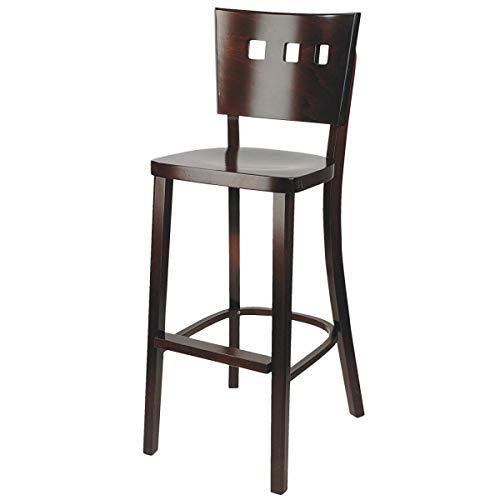 Barhocker Trendy, 45x54x109cm (BxTxH), Sitz nussbaum, Gestell nussbaum, 2 Stück/Packung - Vega-barhocker