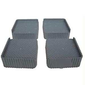 SS 4-Pieces Furniture Base Stand, Saves from Rust (Grey Black)
