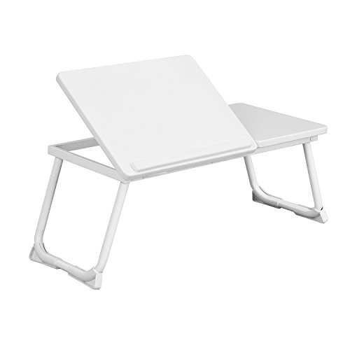 coavas Soporte Mesa Plegable para Macbook Tablet Portátil Cama Ángulo de Lectura Regulable Color Blanco