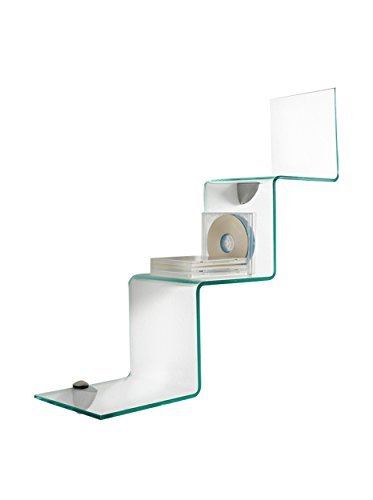 Wink design yonkers, mensola, vetro, trasparente