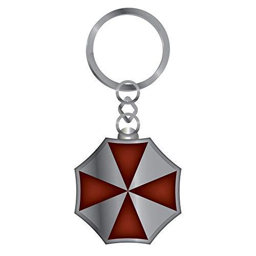 Resident Evil Metal Keychain Umbrella Corp 7 cm Half Moon Portachiavi