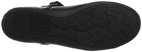 Hush Puppies Abby Senior, Mary Jane Fille Noir (Black)