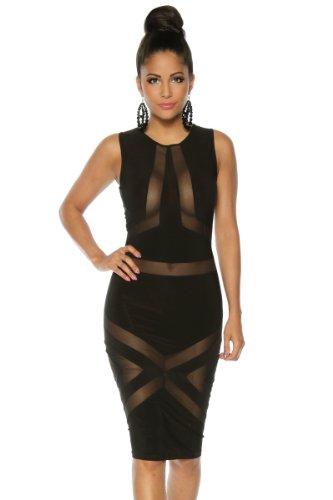 Aussergewöhnliches Party-Kleid Schwarz