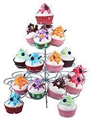 Juvale Kreisförmige Stahl Cupcake Ständer - ideal für Geburtstage, Hochzeiten, Baby-Duschen, Centerpiece - 12