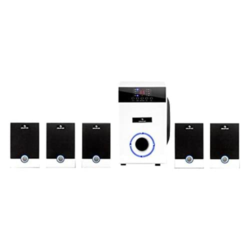 """314gUP6G6gL. SS500  - auna 5.1 Active Surround Speaker Set with 10"""" Subwoofer and Separately Adjustable Volume for Each Speaker (95W RMS Power, Subwoofer in a Low Vibration Chassis with Bass Reflex Design, Sleep Timer)"""
