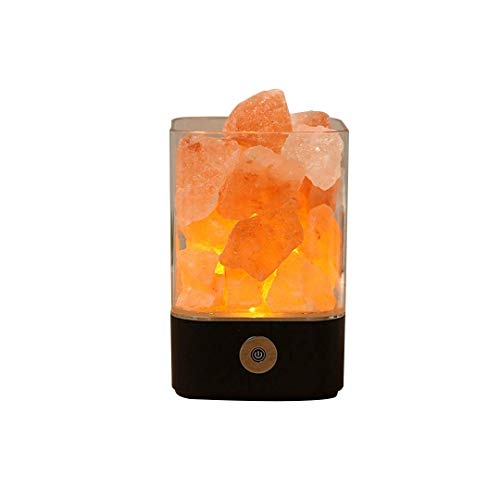 HIMD Himalayan Rock Salz-Lampe Release Negative Ions Better Sleep Portable Natural Pink Crystal Design Rock Creative Household Table Night Light