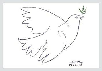 Pablo Picasso die blaue Taube Poster Kunstdruck Amazonde Kche
