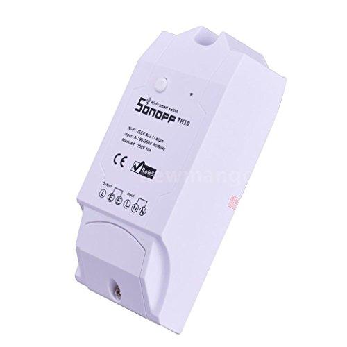 Sonoff TH10 Surveillance de la température et de l'humidité WiFi Smart Switch pour DIY Smart Home (MAX Current 10A)