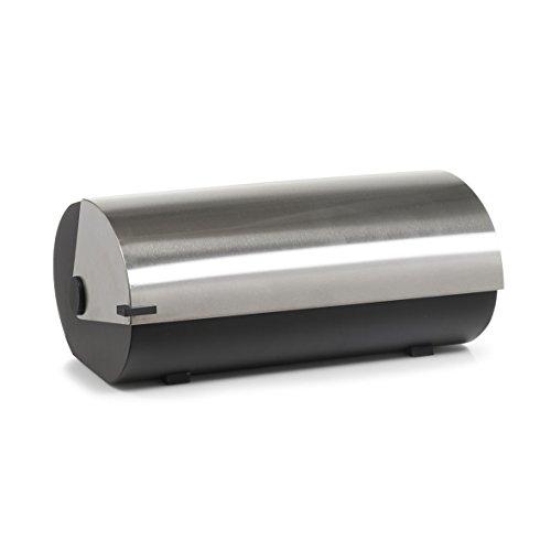 Zeller 27288 Brotkasten, Edelstahl/Metall, ca. 42 x 27 x 18 cm, schwarz