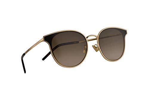 Saint Laurent SL 271/K Sonnenbrille Gold Mit Braunem Verlaufsglas Gläsern 64mm 004 SL271K SL271/K