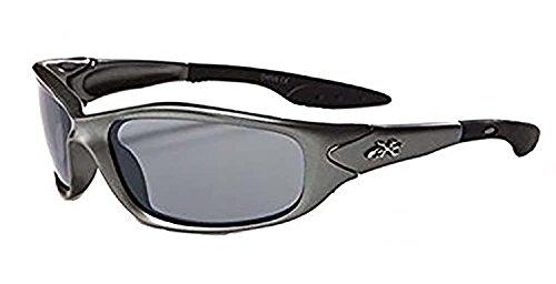 X-Loop Kinder K20 Sonnenbrille Uv400 FSK Alter 3-10 (Schwarz) 1 2 Schwarz eine Größe passt meistens Gunmetal
