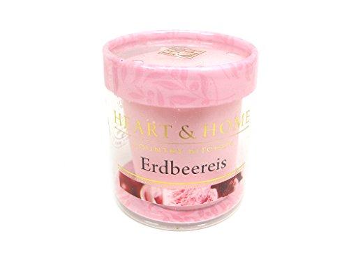 Heart & Home - Home Fragrance: Duftkerze Erdbeereis: Heart & Home - Home Fragrance: Groesse: Duftkerze Votiv Erdbeereis 53 g (53 g)