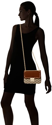 Michael Kors - Sloan Editor, Borsa a tracolla donna Multicolore (Natural / Luggage)