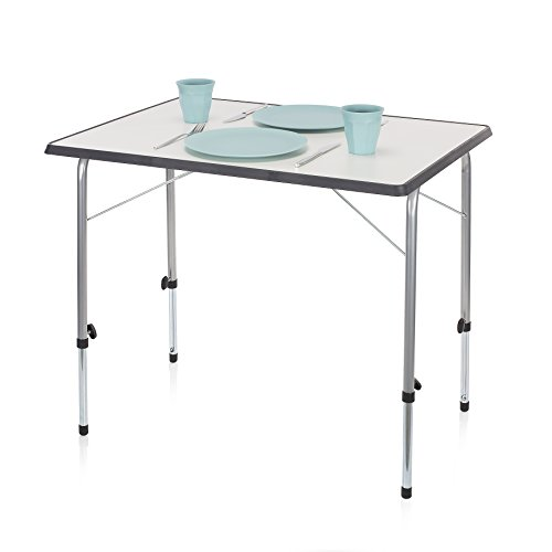 Campart Travel Tristar 80 x 60 x 50/70 cm Travel and Camping Foldable Camping Table