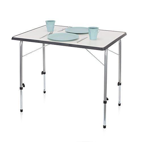 Campart Campingtisch/ Reisetisch - 80 x 60 cm wetterbeständige Rolltischfläche/ höhenverstellbar/...