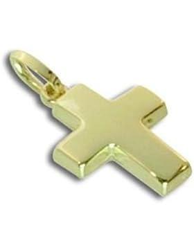 Kreuz Anhänger für Taufe und Kinder echt 14 Karat Gold 585 GRATIS-SOFORT-GRAVUR