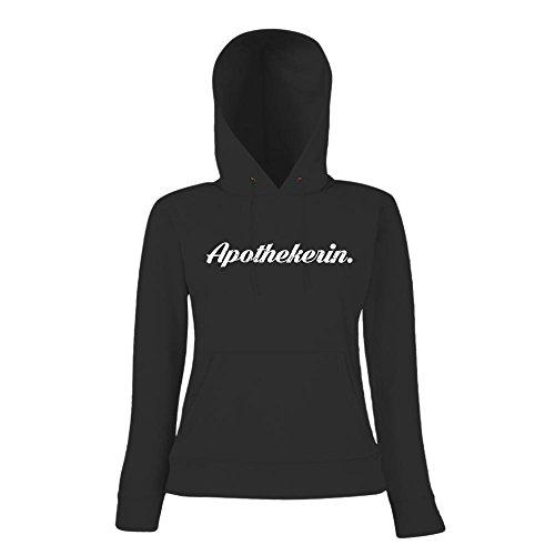 Apothekerin #1 Hoody | Berufe-Hoody | Traumberuf | Beste Apothekerin | Frauen | Kapuzenpullover Schwarz