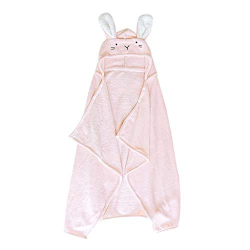 Tier Kapuze Baby-Handtuch Waschlappen Ultra Soft und Extra Large, 100% Baumwolle Bademantel for Groß Kind/Neugeborenes Dusche Geschenk for Jungen oder Mädchen (0-7 Jahre) (Color : Pink)