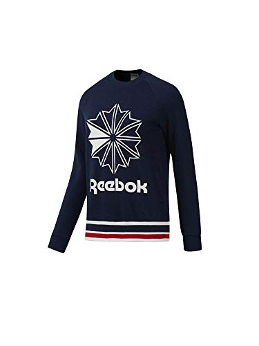 Reebok Damen Ac Ft Crew Sweatshirt, Braun (Maruni), M (Reebok Sweatshirt)