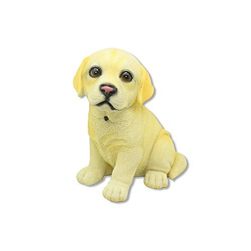 AFPANQZ Realistische Hundefigur für den Innen- und Außenbereich, handbemalt, für den Garten, zu Hause oder im Büro One-Size Abrador