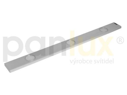 panlux bl324t/CH daeron 3x 24LED Lampe 3000K Cuisine Métal, 8,5W, Argent, 75x 6,8x 1,6cm