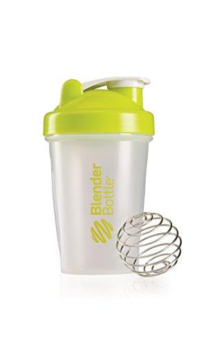 BlenderBottle Classic Shaker   Eiweiß Shaker   Diät Shaker   Protein Shaker mit Blenderball 590ml - Clear Grün