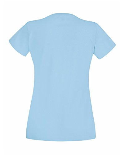 Fruit of the Loom T-shirt da donna Azzurro cielo