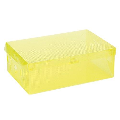 5x Schuh-Aufbewahrungsbox Fall Aufbewahrungsbox aus Kunststoff Rechteck PP Schuh Organizer Verdickte Schublade Box gelb (Schuh-speicher-box)