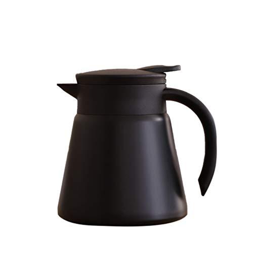 Hemoton Edelstahl Wasserkocher Doppelschicht Kaffeekanne Heiß Kaltes Getränk Krug Flasche für zu Hause Camping