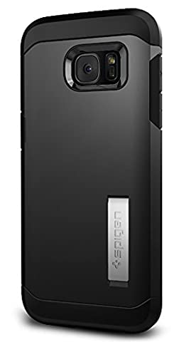 Coque Galaxy S7 Edge, Spigen [Tough Armor] HEAVY DUTY [Black] EXTREME Protection / Rugged but Slim Dual Layer Protective Coque Samsung Galaxy S7 Edge (2016) - (556CS20045)