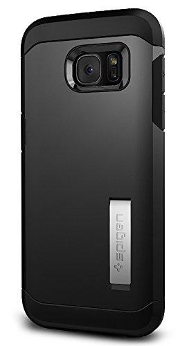 Samsung Galaxy S7 Edge Hülle, Spigen® [Tough Armor] Schwerschutz [Schwarz] Doppelte Schutzschicht & Extrem Hoher Fallschutz Schutzhülle für Samsung S7 Edge Case, Samsung S7 Edge Cover - Black (555CS20 Black
