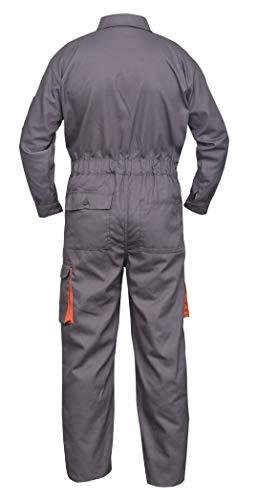 NORMAN Grau Arbeitskleidung Herren Latzhose Monteuranzug Overalls Mechaniker Blaumann Schützende – grau, XXX-Large - 3