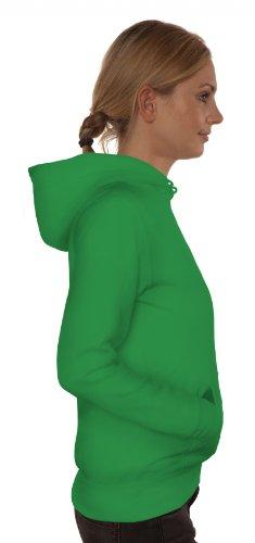Geburtstags,- Muttertagsgeschenk Damen Kapuzenpullover mit Mama - Superheldin Motiv Kelly Green